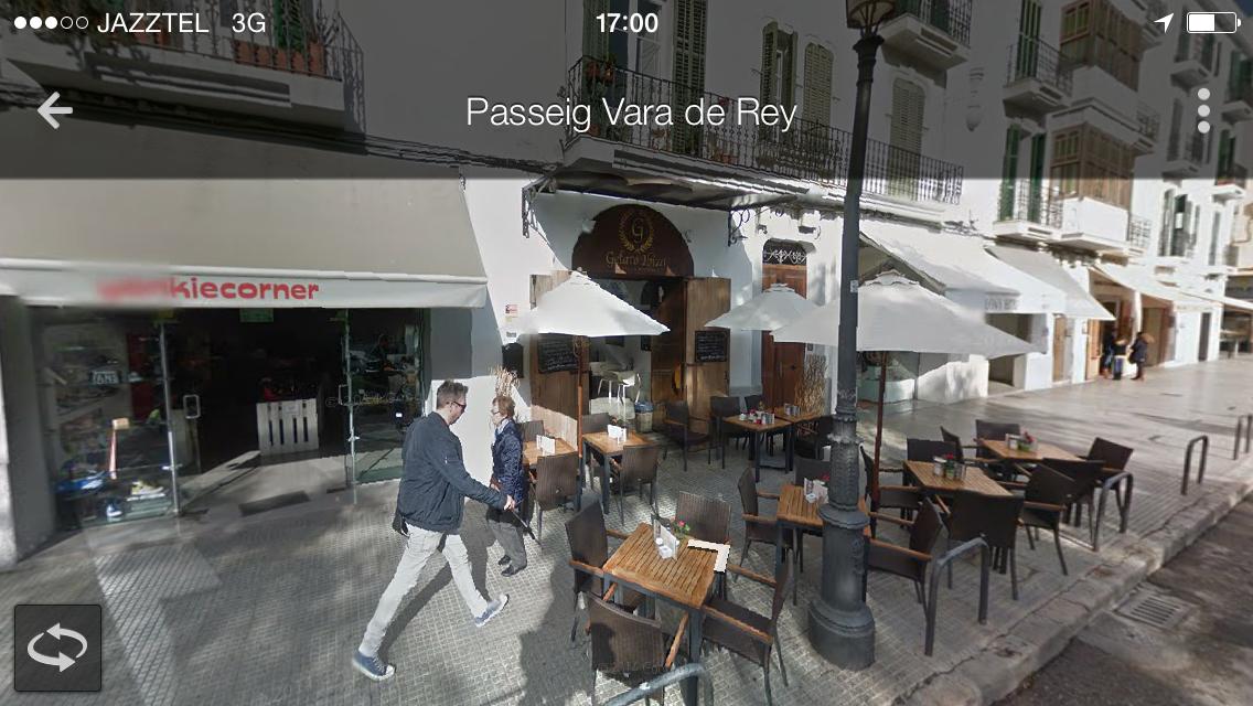 Vista de la aplicación Google Maps desde in iPhone.