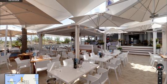 Recorrido virtual Business View del restaurante Juan y Andrea en Formentera