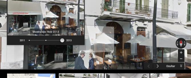 Google Maps Street View, permite ver imágenes del pasado.