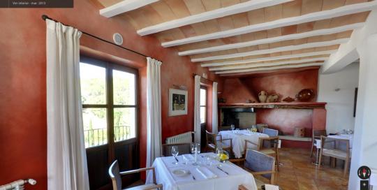 Restaurante Can Curreu, un recorrido virtual Google Business View