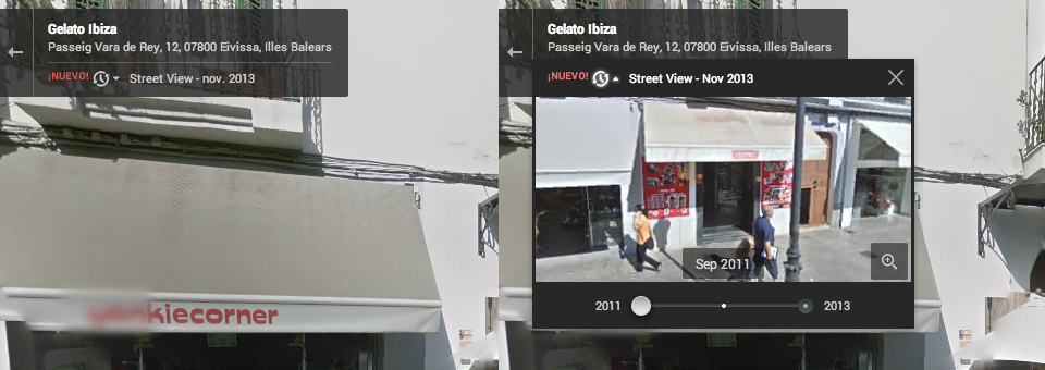 Google Maps Street View Time Machine